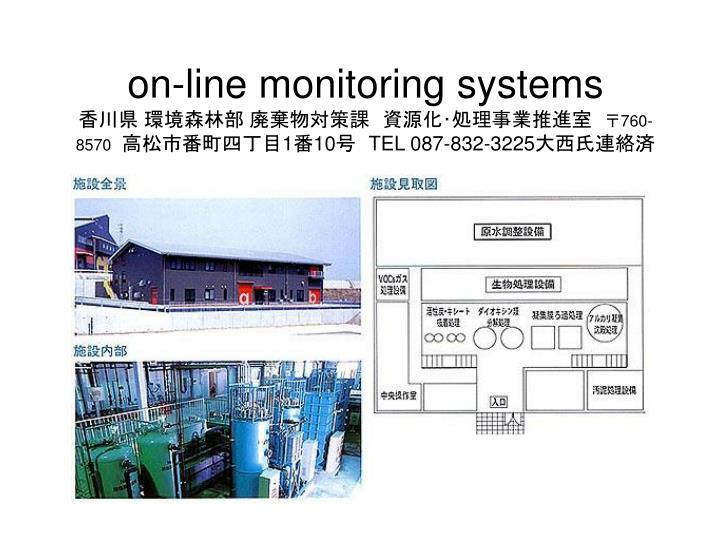 on-line monitoring systems