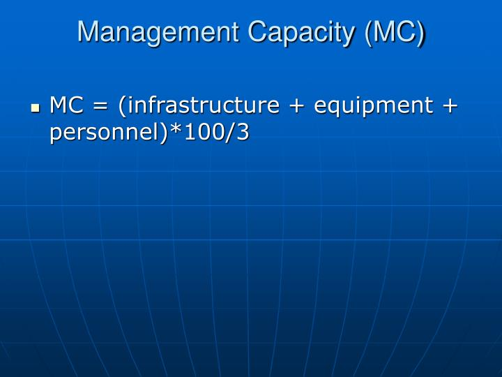 Management Capacity (MC)