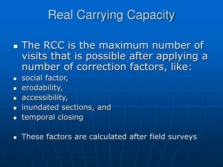 Real Carrying Capacity