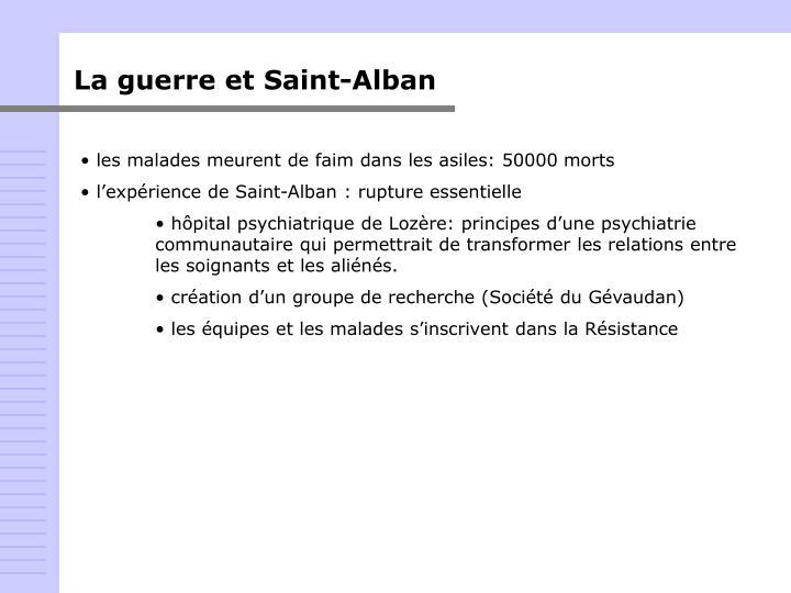 La guerre et Saint-Alban