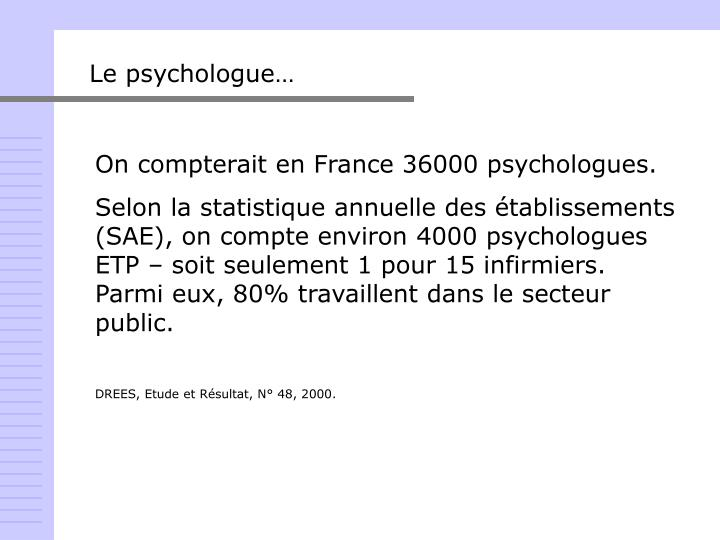 Le psychologue…