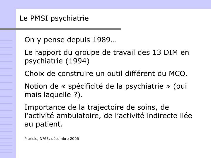 Le PMSI psychiatrie