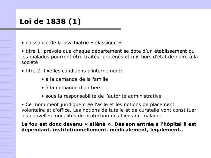 Loi de 1838 (1)