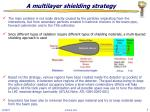 a multilayer shielding strategy