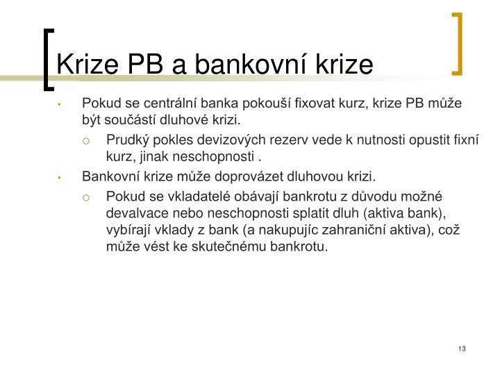 Krize PB a bankovní krize