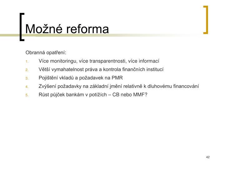 Možné reforma