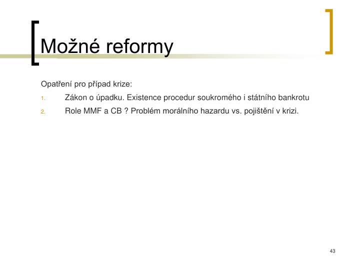 Možné reformy