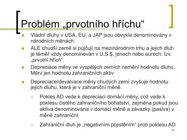 """Problém """"prvotního hříchu"""""""