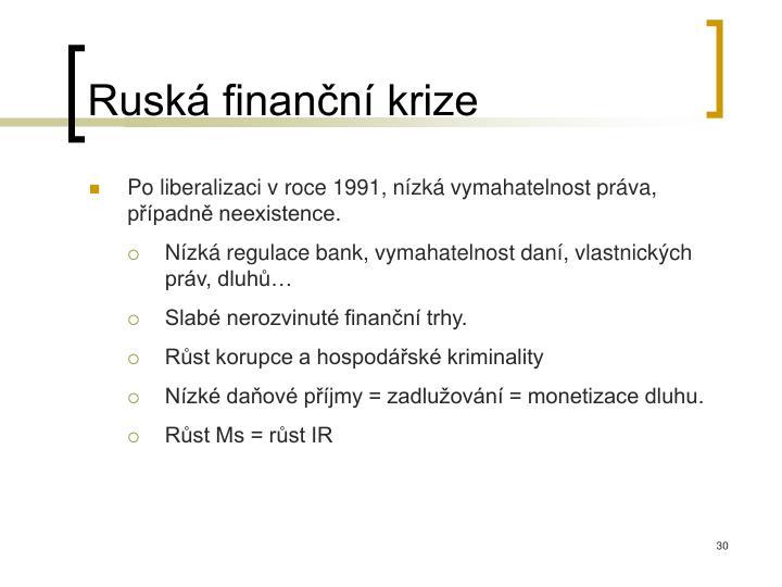 Ruská finanční krize