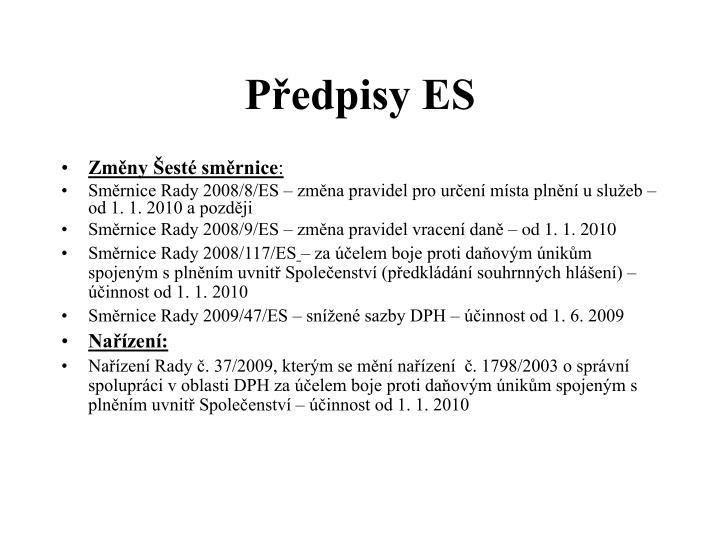 Předpisy ES