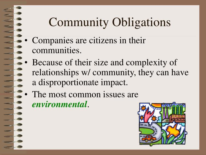 Community Obligations