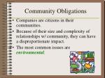 community obligations