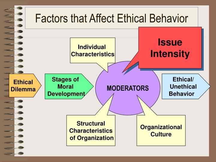 Factors that Affect Ethical Behavior