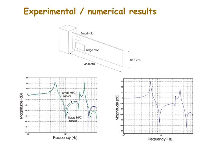 Experimental / numerical results