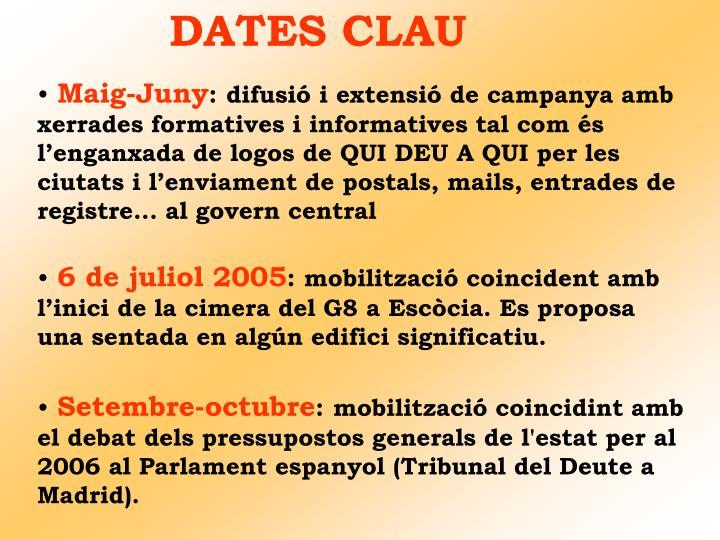 DATES CLAU