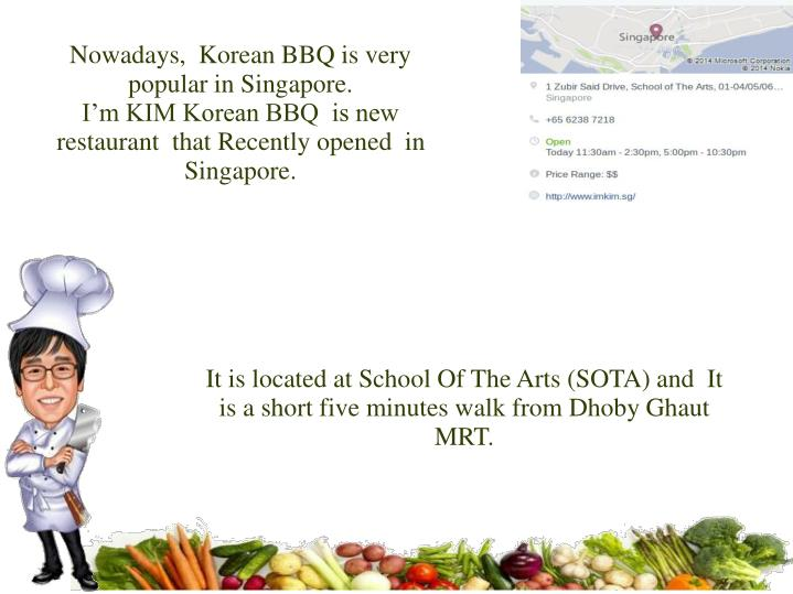 It is located at school of the arts sota and it is a short five minutes walk from dhoby ghaut mrt