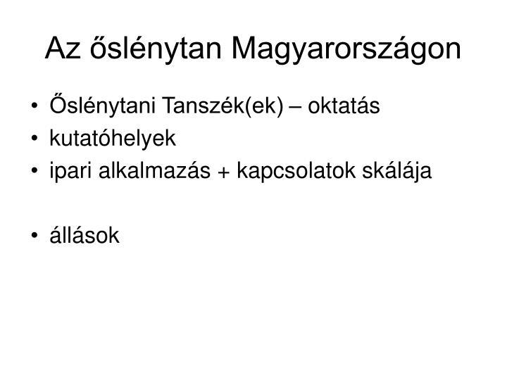 Az őslénytan Magyarországon