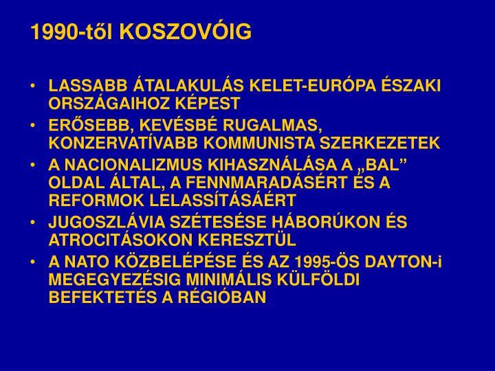 1990-től KOSZOVÓIG
