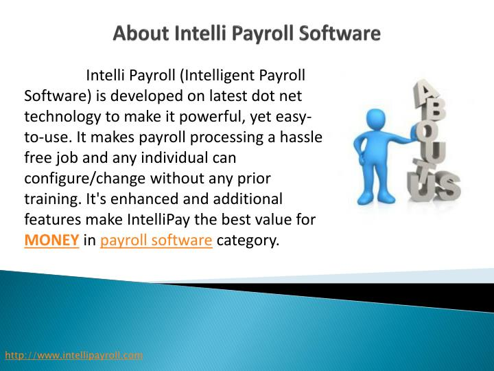 About intelli p ayroll software