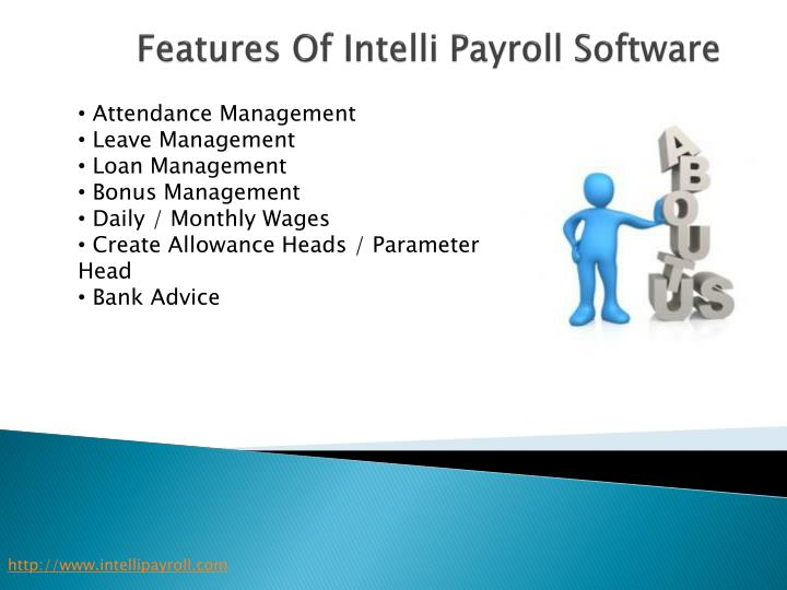 Features of intelli payroll software