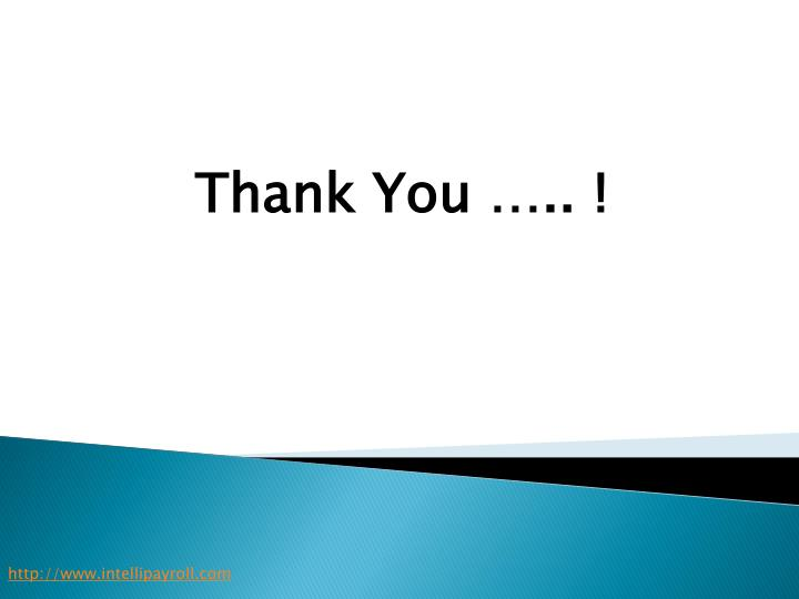 Thank You ….. !