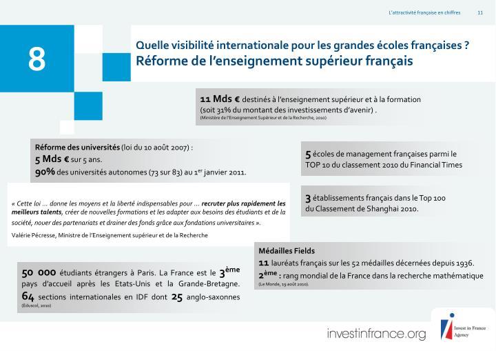 Quelle visibilité internationale pour les grandes écoles françaises ?