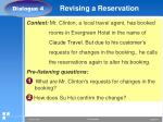 revising a reservation