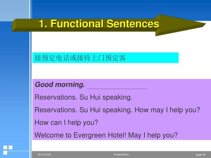 1. Functional Sentences