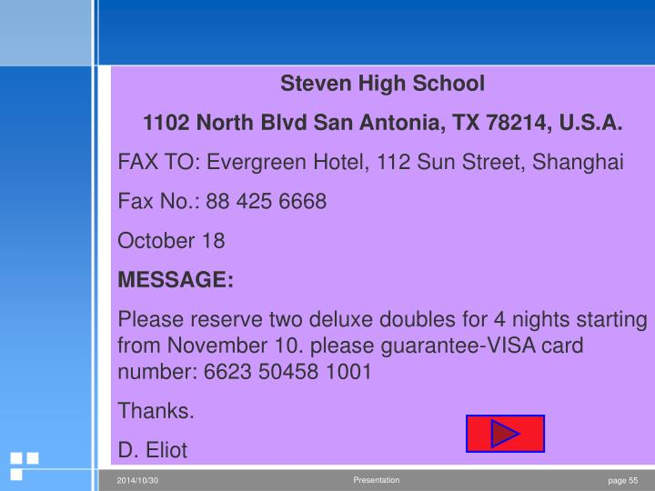 Steven High School