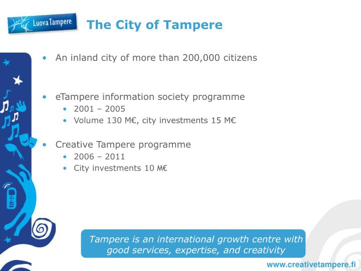 The city of tampere