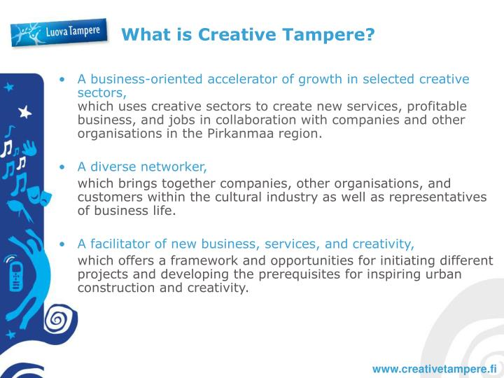 What is Creative Tampere?