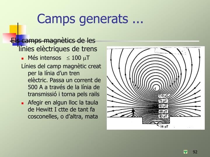 Camps generats ...