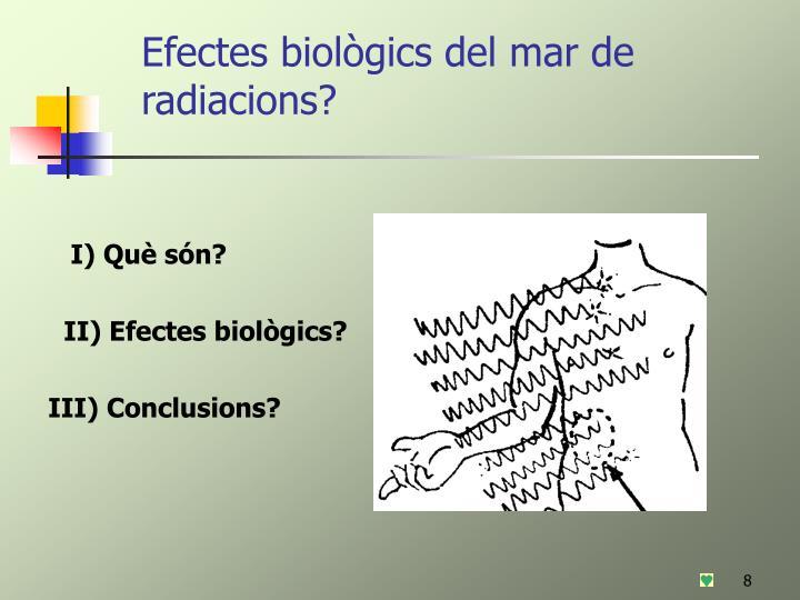 Efectes biològics del