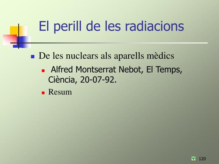 El perill de les radiacions