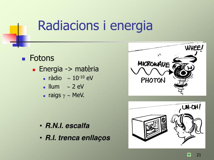 Radiacions i energia