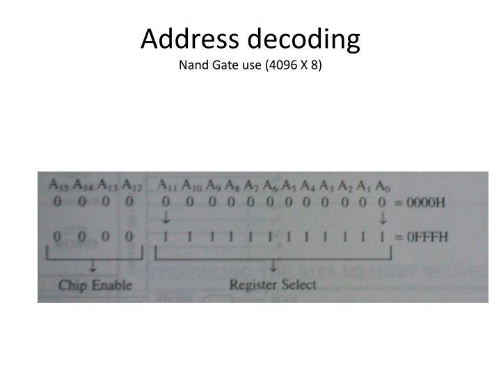 Address decoding