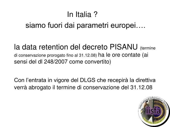 In Italia ?
