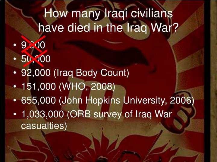 How many Iraqi civilians