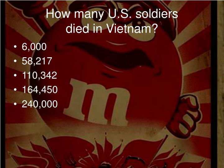 How many U.S. soldiers