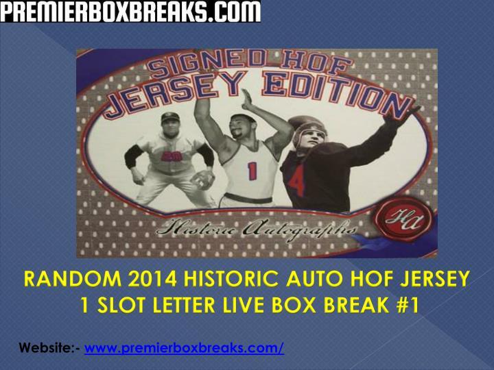 RANDOM 2014 HISTORIC AUTO HOF JERSEY