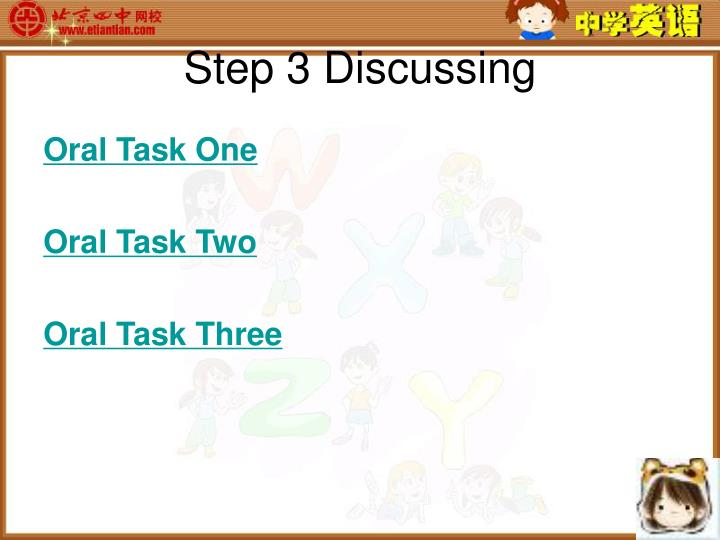 Step 3 Discussing