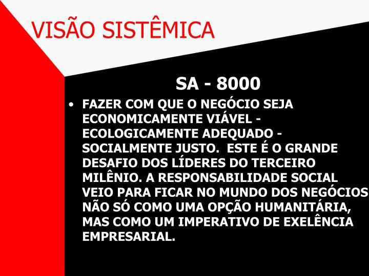 VISÃO SISTÊMICA