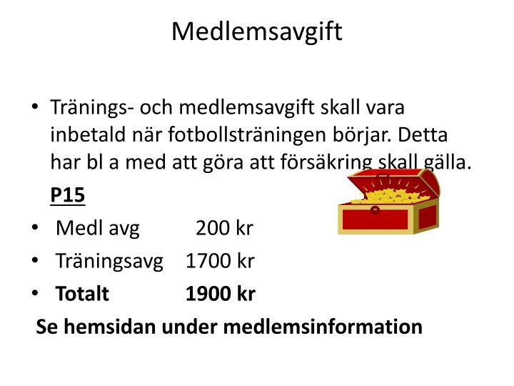 Medlemsavgift