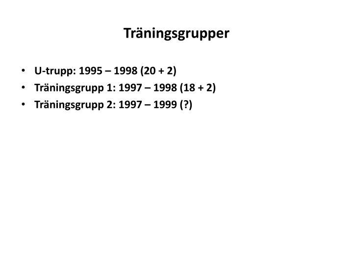 Träningsgrupper