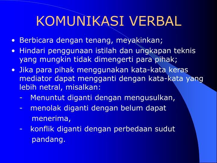 KOMUNIKASI VERBAL