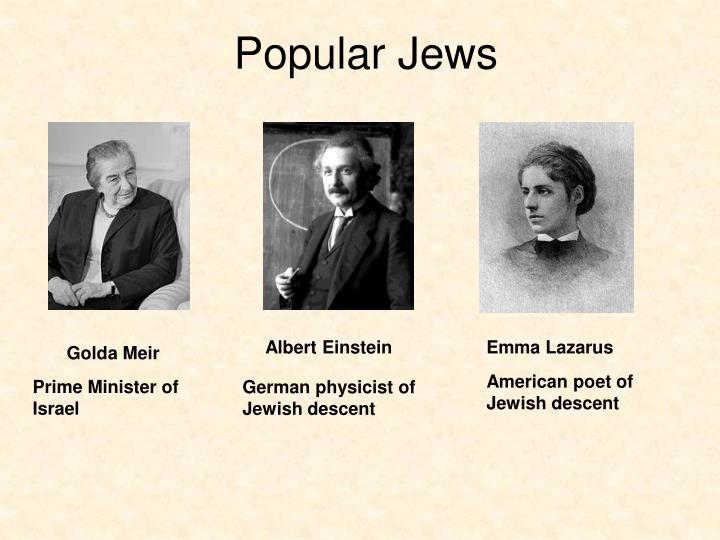 Popular Jews