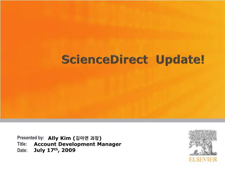 Sciencedirect update