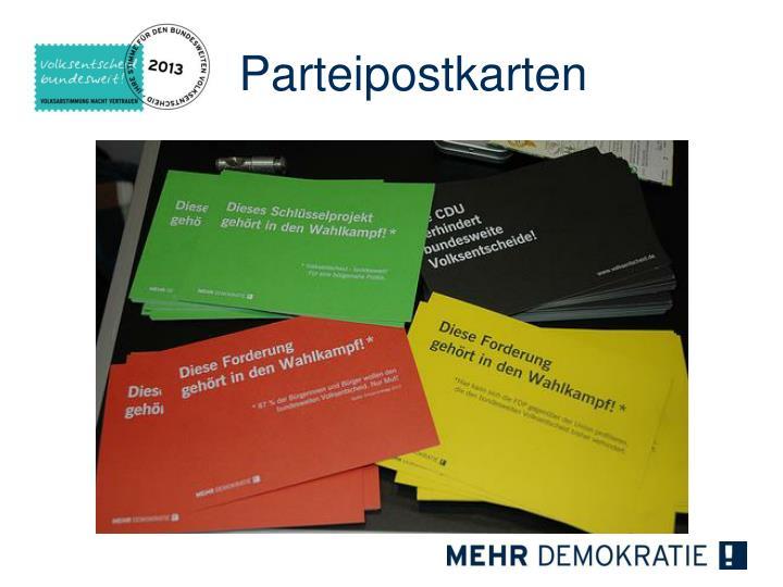 Parteipostkarten
