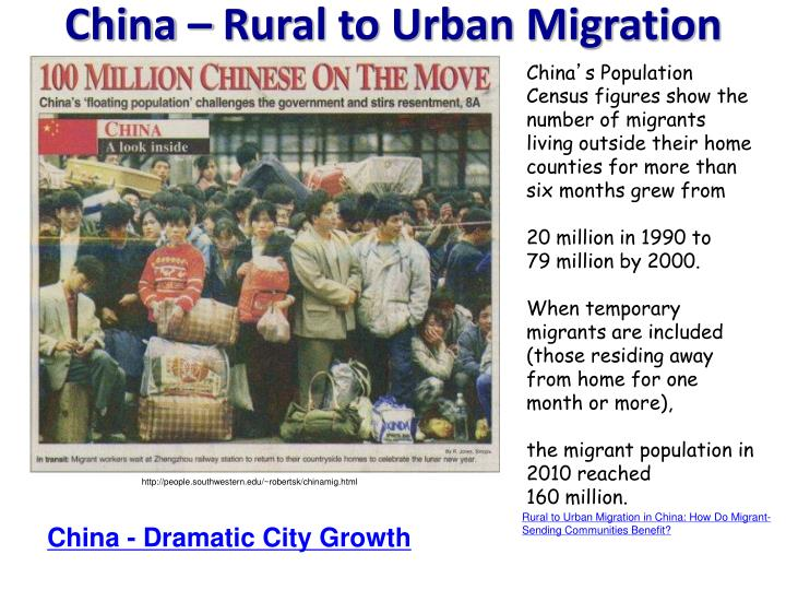 China – Rural to Urban Migration