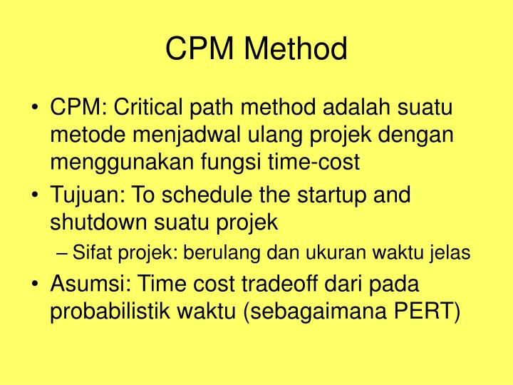 CPM Method